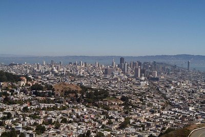 From the top of Twin Peaks, it's a Chamber of Commerce day.