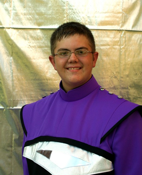 Kris in his Bellevue East High Band uniform.