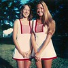 Jennifer and Susan in their tennis playing clothes