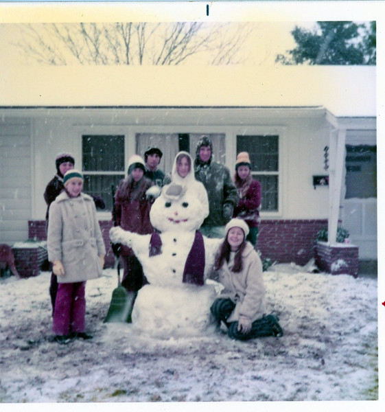 A Rare Snow Day - January, 1973
