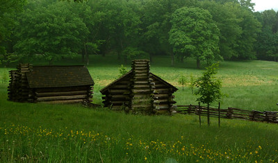 Continental army cabins replica