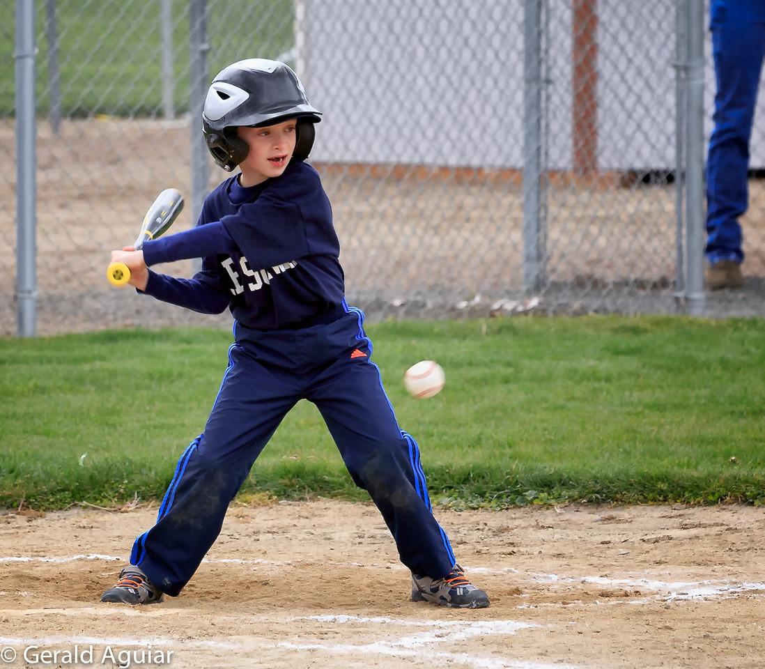 Kyle up at bat