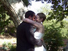 The wedding kiss.