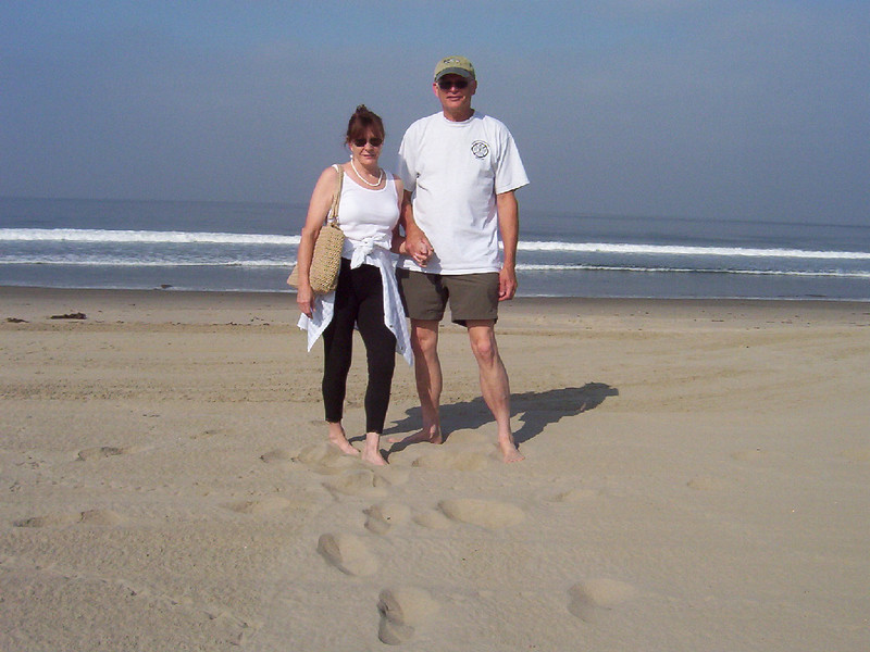 On our arrival, first had to visit the Pacific!