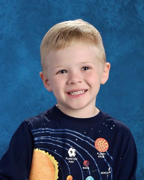 Kyle's 2017 School Portrait - Kindergarten