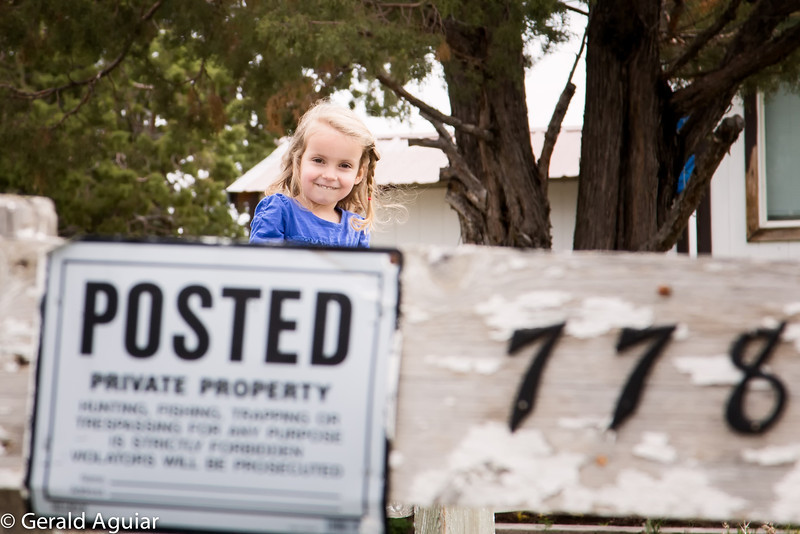 Ellie outside of the home where the Cleek family is now living.