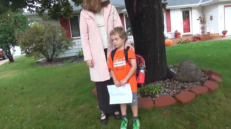 Kyle's first day of Kindergarten, September 10th, 2015