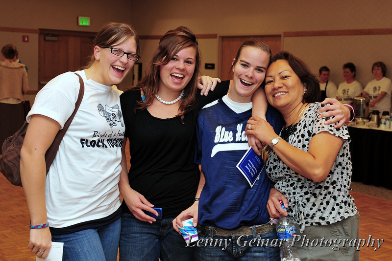 Andrea Schock, Brooklyn, Heather Kelley, and Claire Gemar.