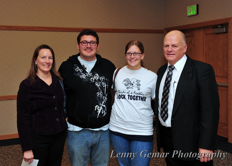 Harlen Stewart and Andrea Schock with Andrea's parents.