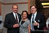 Roger Ternes, DSU Athletic Director, Claire Gemar, and Dr. Richard J. McCallum, DSU President