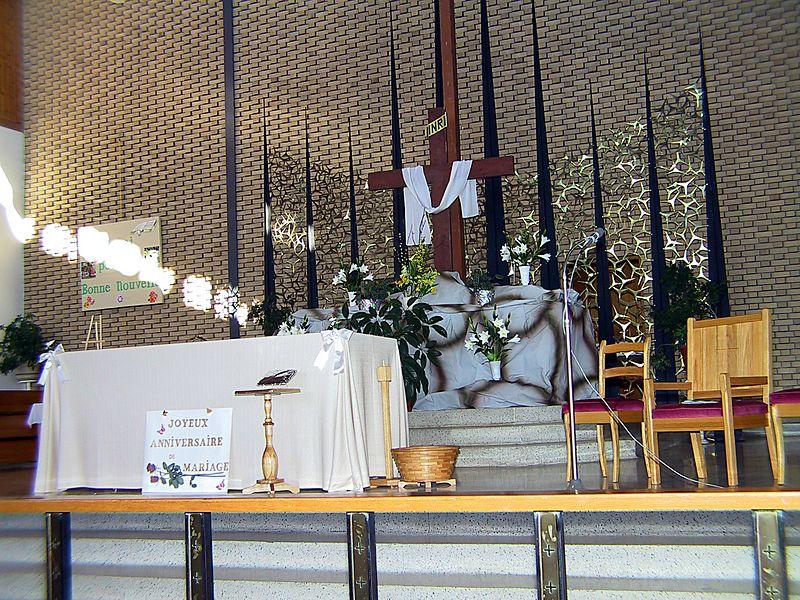 NOTRE-DAME-DE-LOURDES CHURCH ALTAR ATHOLVILLE NB