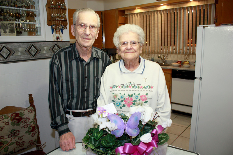 MOM AND DAD ON THEIR 65th WEDDING ANNIVERSARY - FEBRUARY 20 1944 - FEBRUARY 20 2009