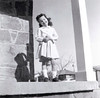 Janine, porch at 3840 17th Street, age 4, 1958