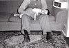 Michael on Grandpa Marcotte's lap, June 1952