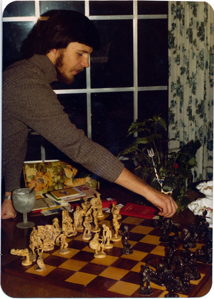 Michael - 1977 - third chess set (one that I had made in Germany at the miliray base craft shop