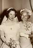 "Helen (Baggett) Marcotte, with her mother, Susan Estelle ""Stella"" (Larkey) Baggett , at Helen's wedding."