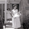 Helen, holding Rick, with Janine in background, at the house on 17th Street, Summer 1960