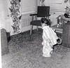 Sherri, playing ring toss, ca. 1957-58