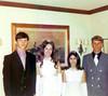 French Club royalty, 1971 (Michael Marcotte, Kris Snachez, Sherri Marcotte, Steve Frost)
