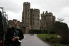 Outside Windsor Castle where the Queen spends most weekends.  I'll probably spend most of my time here when I reach queen status.