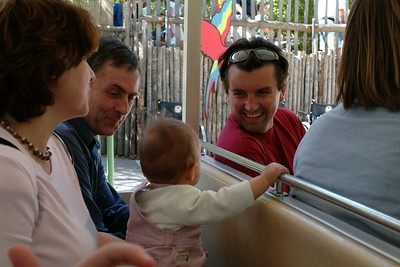 On the train in the Wild Animal Parc.