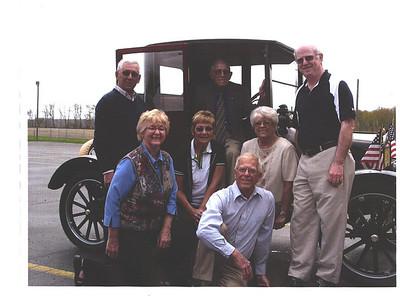 Joe Barone, LaVerne Miller (in Car) Louise Miller, Liz Miller, Kathy Barone, Lloyd Miller Larry Miller