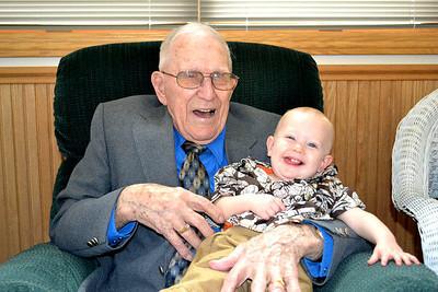 LaVerne Miller age 100 Justin Miller Age 10 months