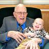 LaVerne Miller age 100<br /> Justin Miller Age 10 months