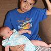 Bryan Henry Sweitzer holds Ruth Grace Sweitzer-Beckman.