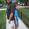 While heading downtown to the Classic Cruise-In we have a height comparison between Dad and Son.