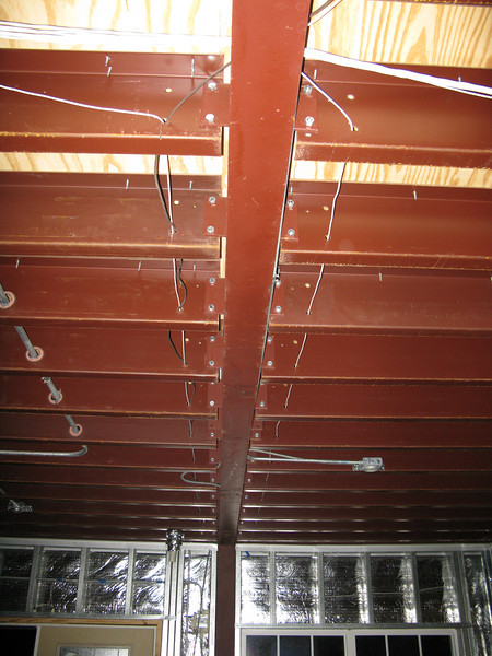 In-ceiling wiring in living room.