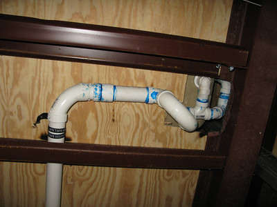 Ceiling in Master bedroom. Pipes from the bathroom tub in 2nd floor.