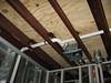 L/S bathroom, ceiling. A/C condensation line?
