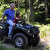 Steve Oslund and his son, Gus.  They have a cabin on Lake Kachess