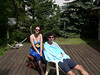 Liz and Jim drying off on the front deck after a swim in Lake Michigan.