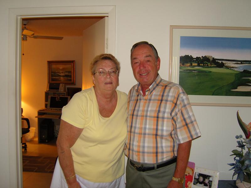 Pat and Dan at home in Lake Worth