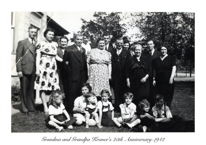 Grandma and Grandpa Kremer's 25th Anniversary-1942