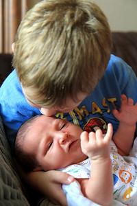 A kiss from Brayden 7-8-2012.