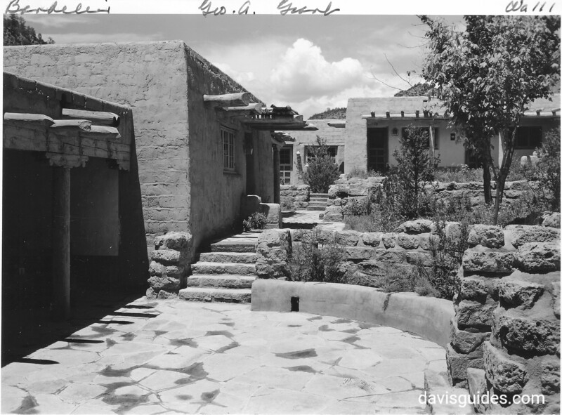 Lodge complex at Bandelier, constructed by CCC. 1940