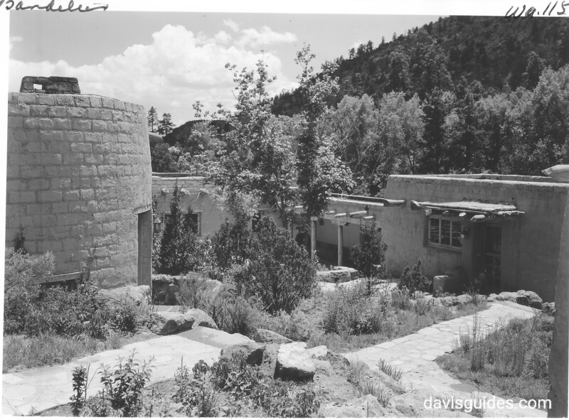 Lodge complex at Bandelier constructed by CCC. 1940