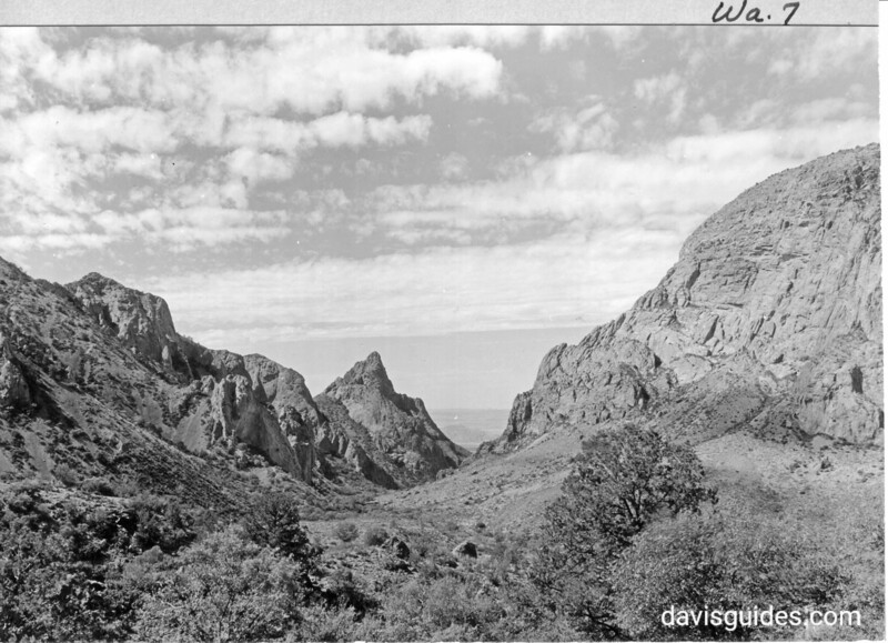 A view through the Window in the Chisos Mountains, proposed Big Bend National Park, 1936
