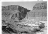 Mouth of Santa Elena Canyon. Mexico on the right and USA on the left. Big Bend National Park, 1953