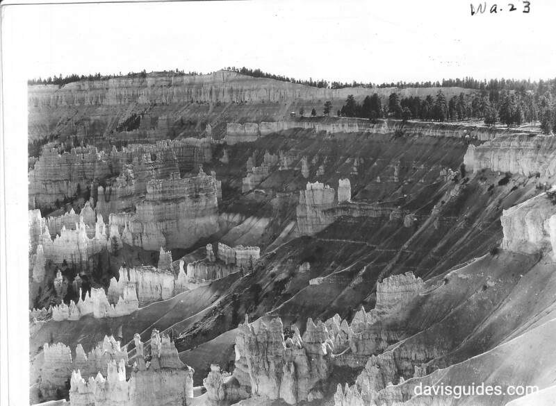 View south along the rim from Sunset Point, Bryce Canyon National Park, 1929