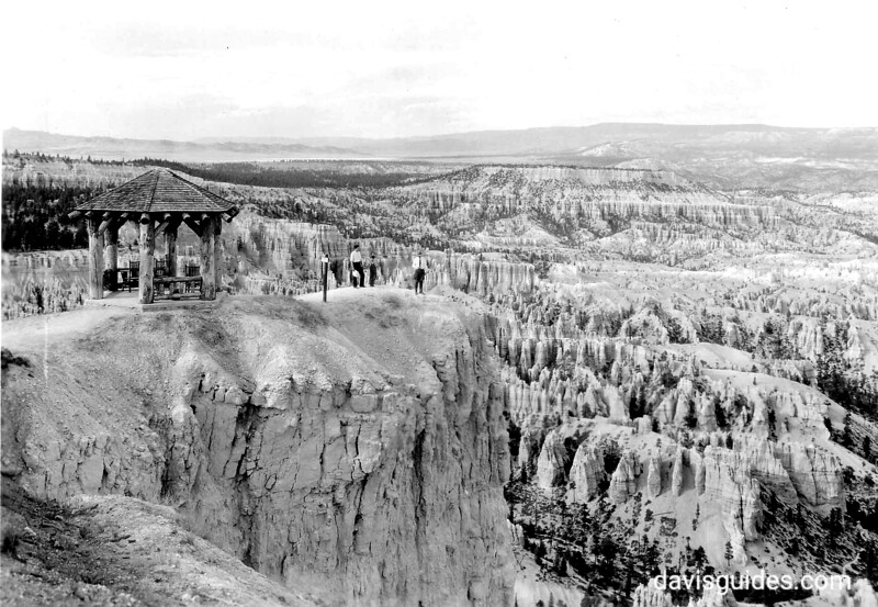 Inspiration Point overlooking the canyon, Bryce Canyon National Park, 1935