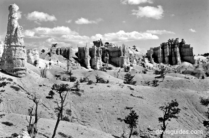 Hoodoo and rock formations, Bryce Canyon National Park, 1929