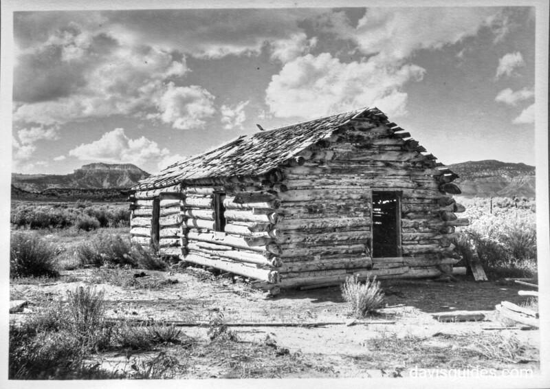Cabin of Mormon pioneer Ebenezer Bryce, Bryce Canyon National Park, 1929