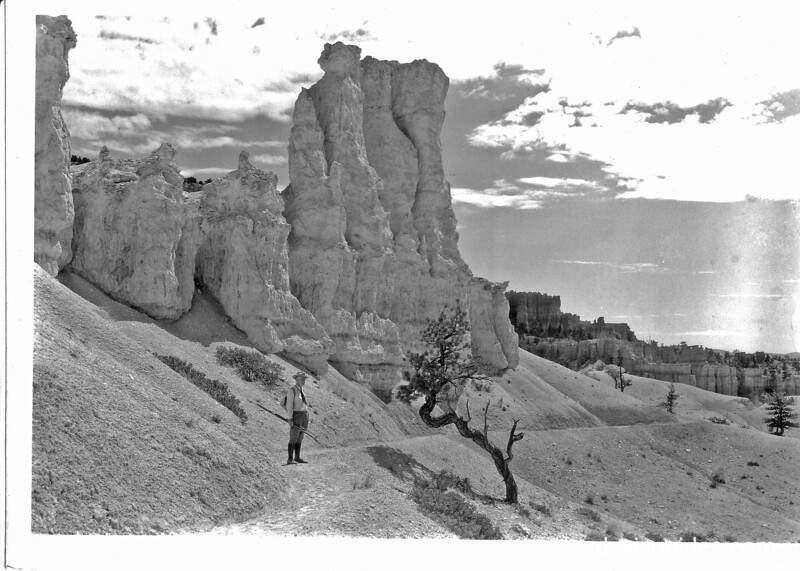 George Grant on the trail, Bryce Canyon National Park, 1935