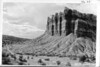 "The Great Organ, Capitol Reef National Park, 1935. Grant's panel truck the ""Hearse"" in the foreground."