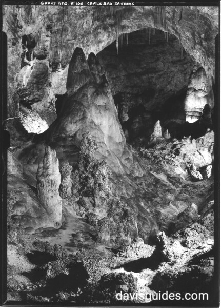 The Chinese Pagoda in the Big Room, Carlsbad Caverns National Park, 1934.