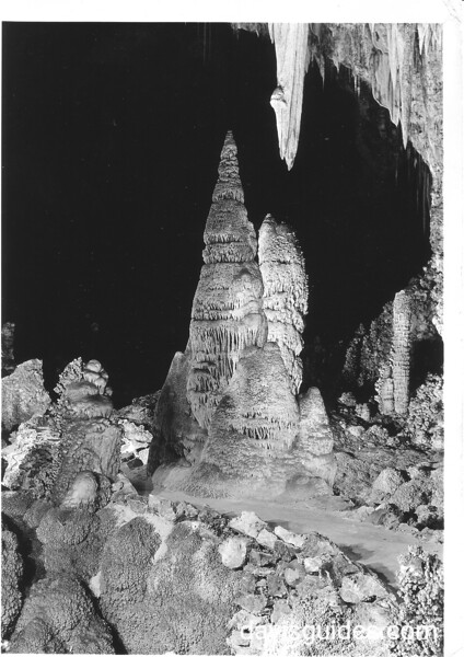 Entrance to the King's Palace, Carlsbad Caverns National Park, 1934.